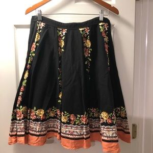 Urban Outfitters Lux Floral Skirt